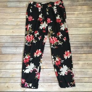 LOFT loose soft floral pants